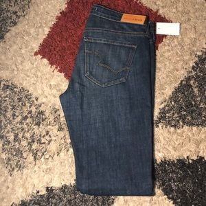 Jeans dark blue low rise skinny jeans
